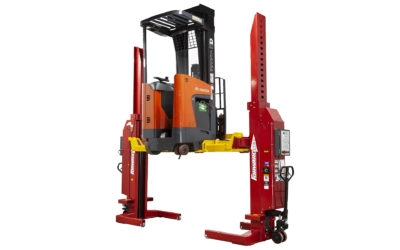 Forward Lift Makes It Easier to Service Forklifts and Pallet Movers with New Frame-Engaging Mobile Column Lift Adapters